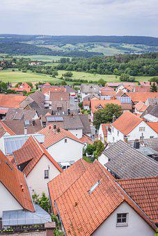 Settlement, Village, Houses, Roofs