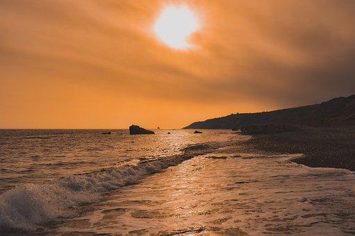 Beach, Landscape, Sunset, Sea, Nature