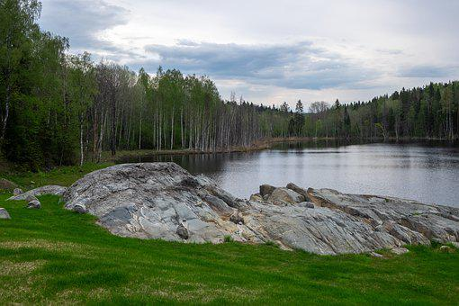 Lake, Forest, Stones, Karelia, Nature, Forests, Water