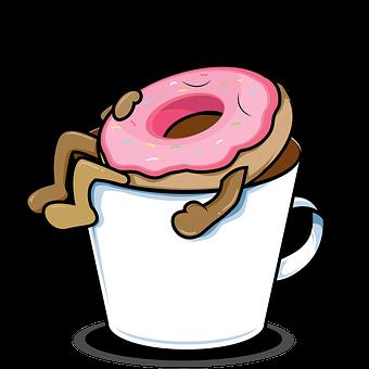 Coffee, Cartoon, Funny, Sweet, Dessert