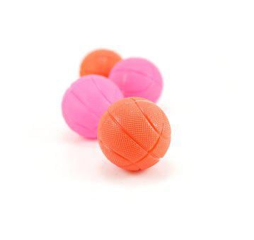 Balls, Basket, Red, Pink, White, Background, Basketball