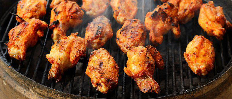Chicken, Barbecue, Food, Meat, Summer, Frying, Fried