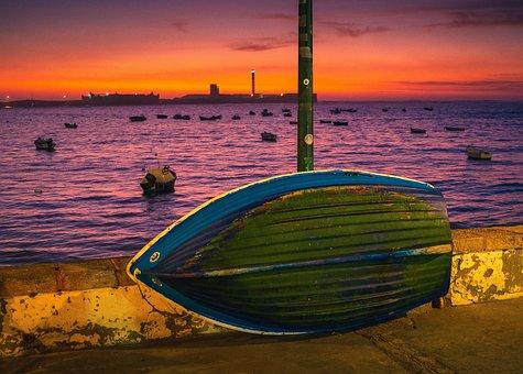 Dramatic, Color, Sunrise, Colorful, Seaside, Outdoor