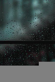 Rain, Window, Wet, Water, Sunset, Drops