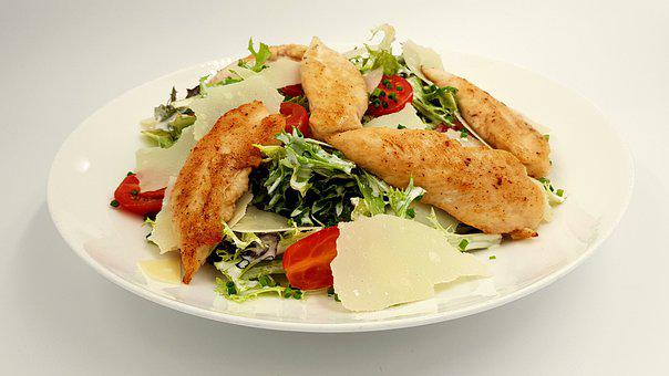 Caesar Salad, Food, Salad, Chicken, Tasty, Restaurant