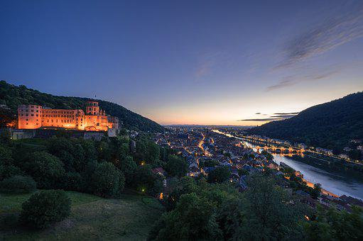 Heidelberg, Castle, Historically, Neckar, Germany