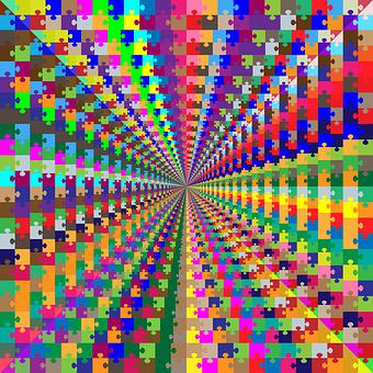 Puzzle, Mandala, Tunnel, Hallway