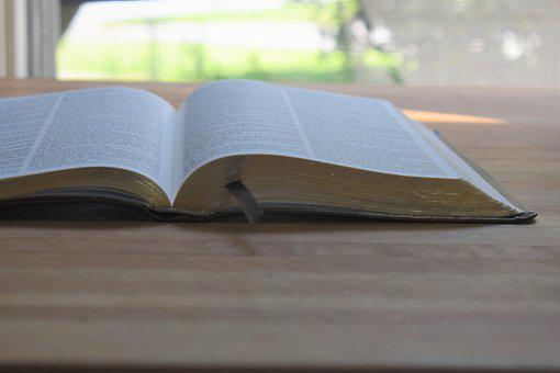Bible On Wood, Scripture, Book, Jesus, Religion