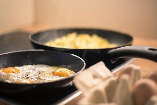 Food, Eggs, Hash Browns, Kitchen, Indoors, Cooking