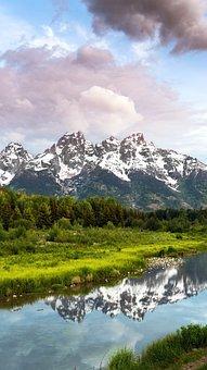 Mountains, Sunrise, Lake, Nature, Landscape, Sky