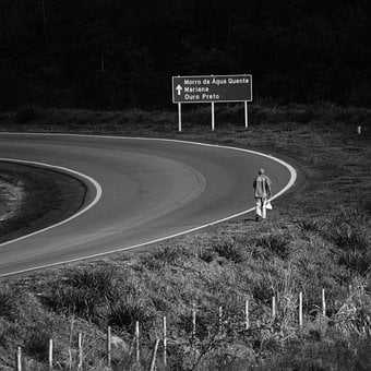 Minas, Man, Road, Alone, Street, Person, Trip, Adult