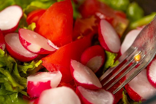 Summer Salad, Salad, Red Green, Radishes