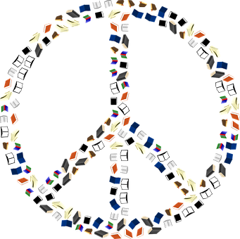Books, Peace Sign, Harmony, Peace, Read, Education