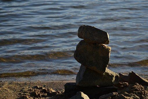 Rock, Water, River, Beach, Stone, Stones, Nature, Dark