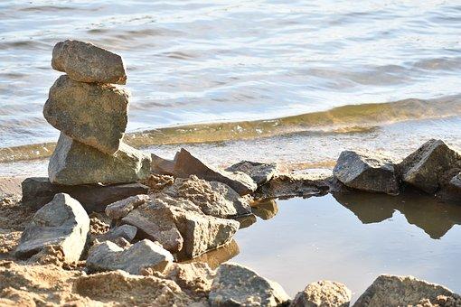 Rock, Water, River, Beach, Stone, Stones