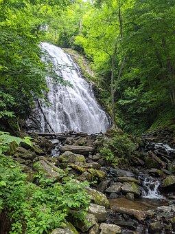 Waterfall, Water, Nature, North Carolina, Outdoor