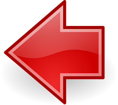 Arrows, Left, Previous, Red, Glossy