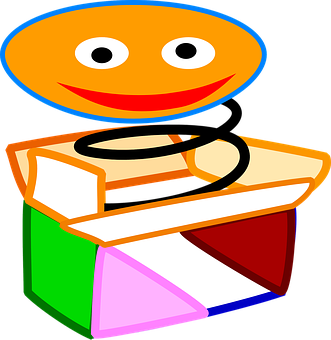 Jack-In-The-Box, Toy, Clown, Spring