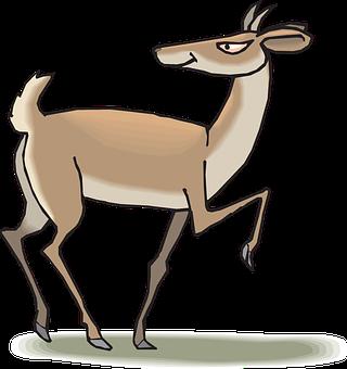 Head, Back, Walking, Animal, Evil, Demon, Antelope