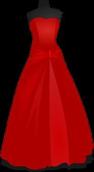Gown, Red, Robe, Wedding, Wedding Dress, Dress