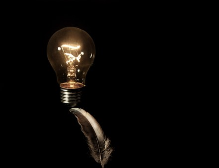 Feather, Light Bulb, Lightweight