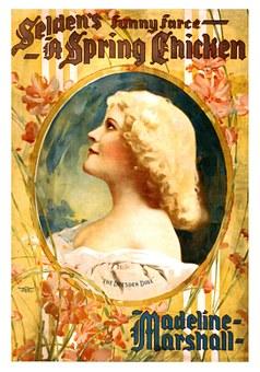 Madeline Marshall, Vintage, Poster, Woman, Female