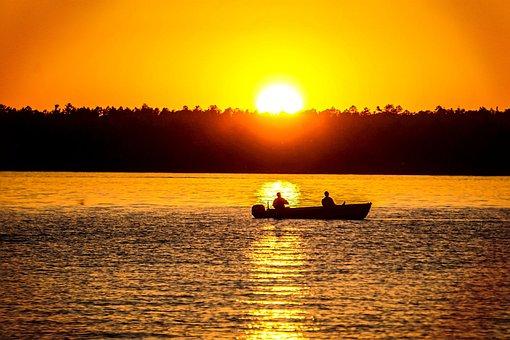 Sunset, Fishing, Fishermen, Fisherman