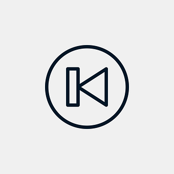 Previous, Icon, Player, Button, Outline