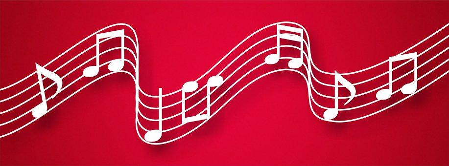 Musical, Magenta, Music, Notes