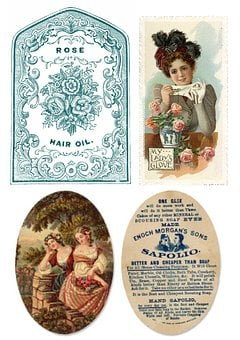 Labels, Vintage, Soap, Products, Collage, Scrapbooking