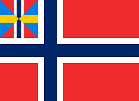 Norway, Flag, National, Merchant, Symbols, Signs, Old