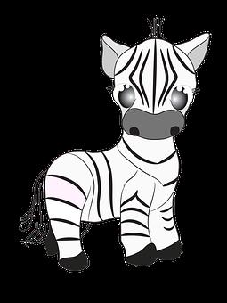 Zebra, Animal, Cute, Zoo, Cartoon, Figure, Schuger
