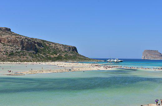 Balos Side, Crete Beach, Greece, Panorama Beach