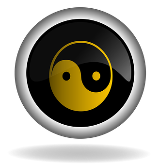 Yin And Yang, Button, Icon, Back, Web, Internet