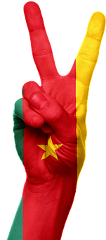 Cameroon, Flag, Hand, Country, Africa, Cameroonian