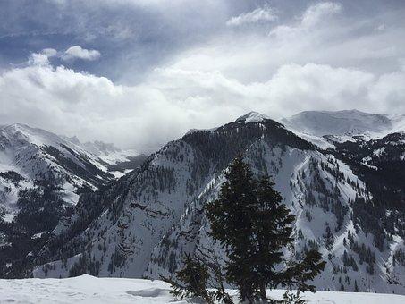Snow, Mountain, Aspen, Nature, Mountains