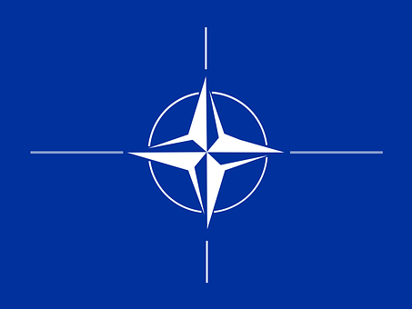 Nato, Flag, Compass Rose, Emblem, Blue
