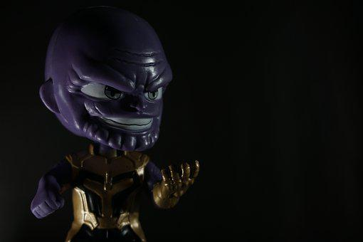 Thanos, Villain, Toy, Marvel, Dark, Mood, Enemy, Black
