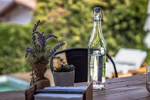 Bottle, Table, Wine, Beer, Drink, Glass