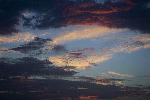 Evening, Dusky, Sky, Cloudy, Dawn
