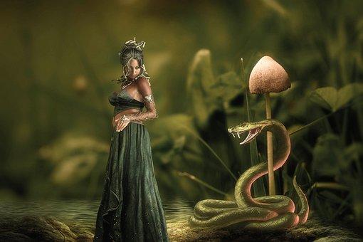 Fantasy, Medusa, Female, Snake
