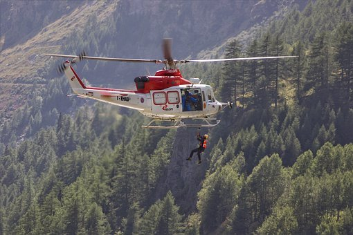 Helicopter, Mountain, Rescue Helicopter
