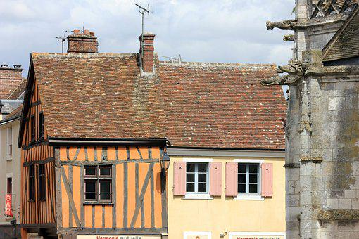 Dreux, Building, House, Stud, Roof, Window, City