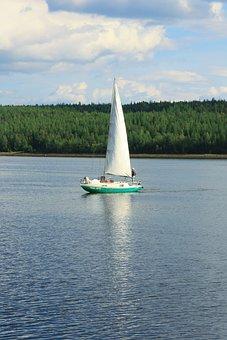 The Chupa Inlet Of The, Karelia, White Sea, Yacht, Sail