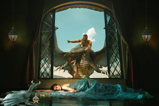 Background, Screen, Cinema, Princess, Sleeping
