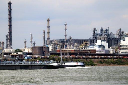 Rhine, Industry, Refinery, Tanks, Oil Tank, Towers