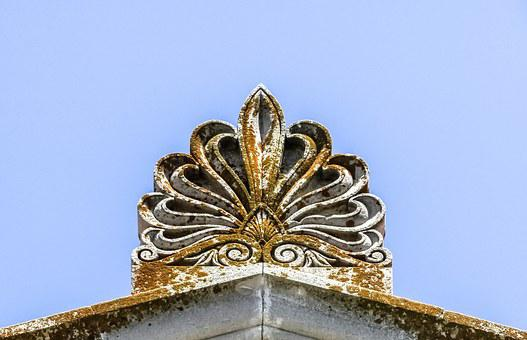 Ridge Tile, Decoration, Neoclassic, Architecture