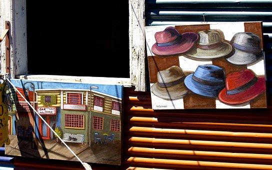 Caminito, Buenos Aires, Argentina, Painting, Art