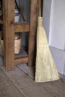Brooms, Brushes, Tools, Sweeping, Cleaning, Long