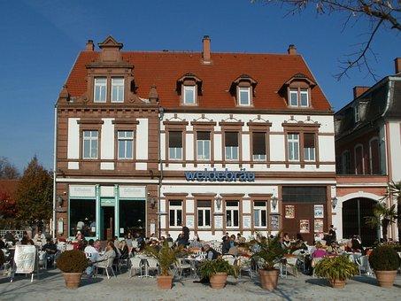 Restaurant, Cafe, Schlossplatz, Schwetzingen, Food